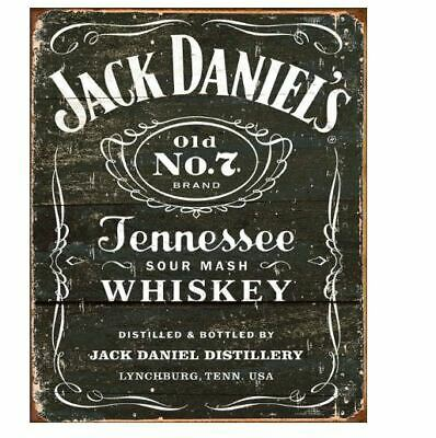 Jack Daniels Old #7 Sour Mash Whiskey Tin Sign  Man Cave Metal Poster Wall Art