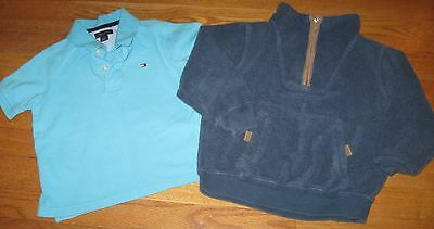 Gymboree Toddler Boys Zip Sweater Fleece Tommy Hilfiger Polo Top LOT size 4