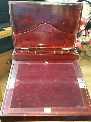 Oriental Writing slope for restoration . Vintage writing box exterior needs work