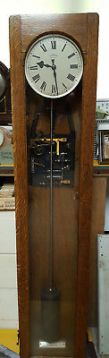 Rare Oak Fully Serviced Synchronome Electric Master Wall Clock Factory Genuine