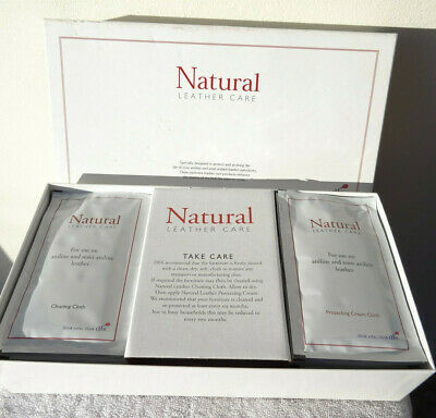 DFS Cherish Natural Leather specialist furniture care kit 20 x wipes