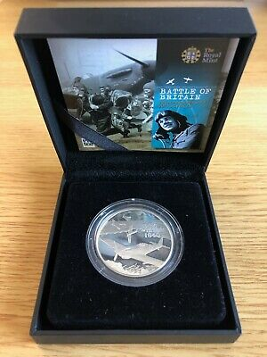 2010 Royal Mint Silver Proof Battle of Britain 70th Anniversary £5 Coin COA