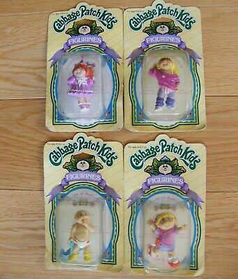 4 Vintage  (1985)  Panosh Place Cabbage Patch Kids Figurines - Factory Sealed