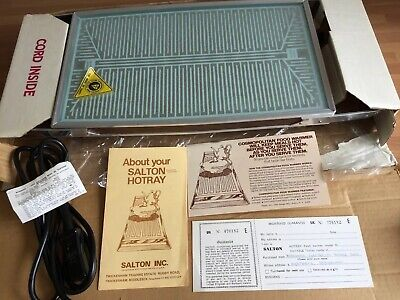 Vintage Salton HotRay Warming Tray Hot Plate - Boxed with instructions