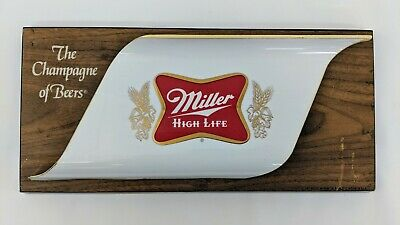 Miller High Life the Champagne Of Beers Sign Plaque Bar Man Cave Beer