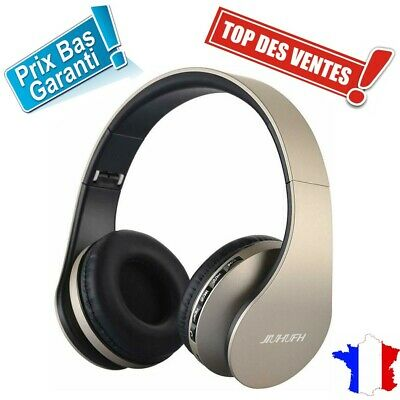 Casque Bluetooth Sans Fil Micro SD Radio MP3 Noir Iphone Android Fitness Running
