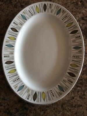 Alfred Meakin Oval Meat Plate Glo White Corinth