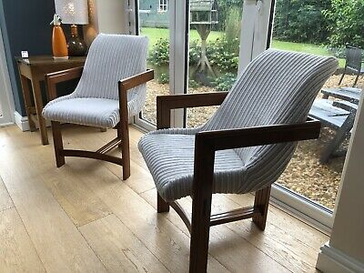 Pair Of Beautiful Bespoke Made Chair Makers Chairs