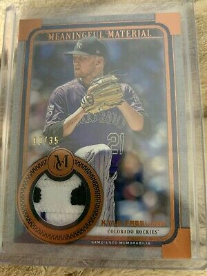 2019 Topps Museum Collection Kyle Freeland Meaningful Material Sick Patch 19/35