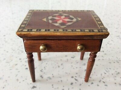 Dolls house miniature 1:12 ARTISAN stunning inlaid marquetry table
