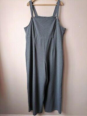 90s Vintage Wide Leg Dungarees 20 Grey Smart Casual