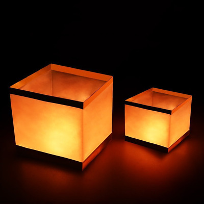 Pack of 20 Water Floating Candle Lanterns Outdoor Biodegradable Lanterns for 5.9
