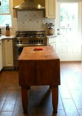 Antique Butcher's Block LOCAL PICK UP ONLY!!!!
