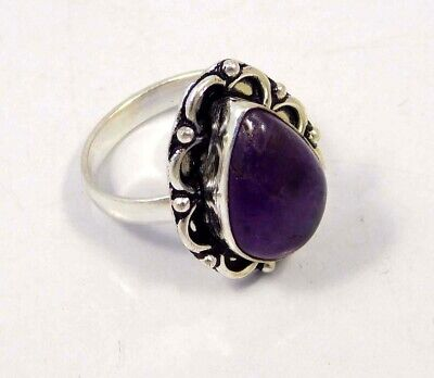 Amethyst Lace .925 Silver Plated Handmade Ring Size-8.75 Jewelry JC4410