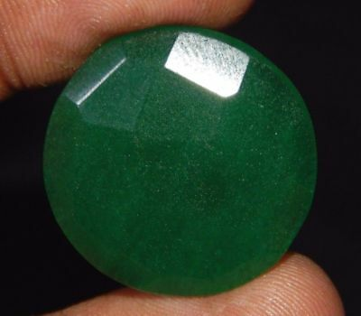 Dyed  Beryl Emerald Top Stone Loose Cabochon Gemstone 25 ct 24x24mm D706
