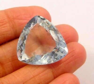 18 ct Awesome Treated Faceted Aquamrine Cab Loose Gemstones RM13860