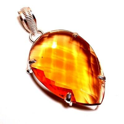 Faceted Citrine .925 Silver Beautiful Pendants Jewelry R800-R968