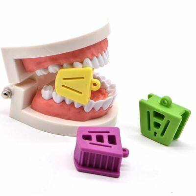 3X Dental Silicone Mouth Bite Block Rubber Mouth Opener Cheek Retractor Prop