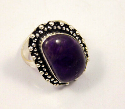 Amethyst Lace .925 Silver Plated Handmade Ring Size-8 Jewelry JC3960