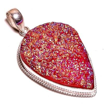 Orange Crystal Druzy .925 Silver Charming Pendants Jewelry JB317-JB357