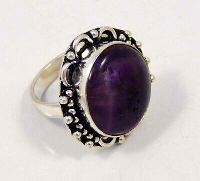 Amethyst Lace .925 Silver Plated Handmade Ring Size-8.75 Jewelry JC4420