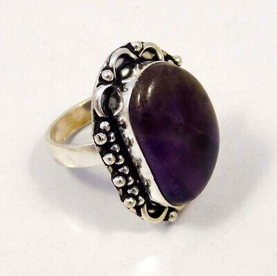 Amethyst Lace .925 Silver Plated Handmade Ring Size-8.75 Jewelry JC4396