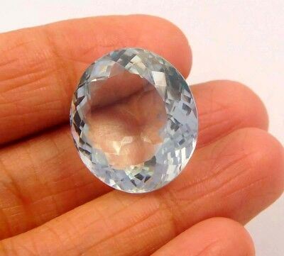 23 ct Awesome Treated Faceted Aquamrine Cab Loose Gemstones RM13853