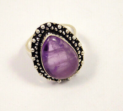 Amethyst Lace .925 Silver Plated Handmade Ring Size-8 Jewelry JC3965