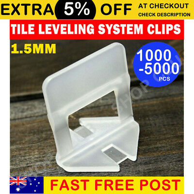 NEW 3000/4000x Tile Leveling System Clips Spacer Tiling Tool Floor Wall 1.5mm AU