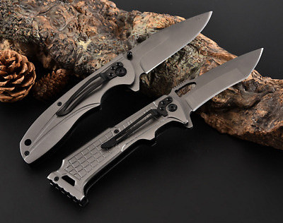 CELTIC CROSS STILETTO Tactical Spring Assisted Folding Pocket Knife outdoor