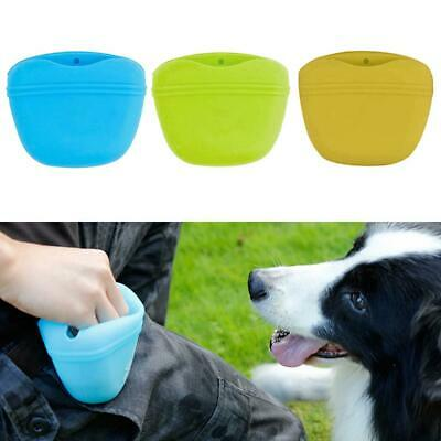 Silicone Dog Outdoor Training Treat Bag Pocket Food Snack Pouch Waist Bag Gift