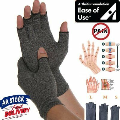 Arthritis Gloves Compression Joint Finger Pain Relief Hand Wrist Support M