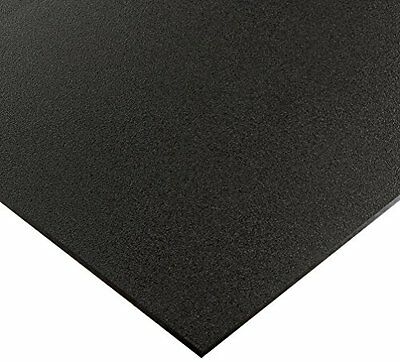 "Black Marine Board Hdpe Polyethylene Plastic Sheet 3/4"" - 0.750"" Thick Textured"