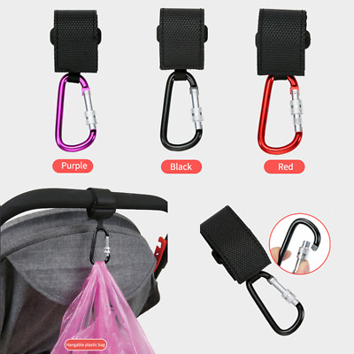 Metal Multi-function Pram Baby Stroller Hook Cart Hooks Hanger Bag Pouch Hanging