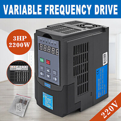 2.2KW CNC Spindle Motor Speed Control Variable Frequency Drive VFD Inverter 220V