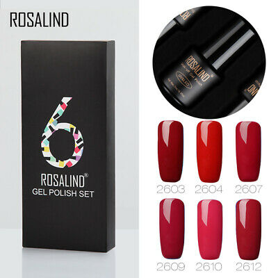6/12PCS ROSALIND Nail Gel Polish UV Lacquer Set &Kit For Manicure Semi Permanent