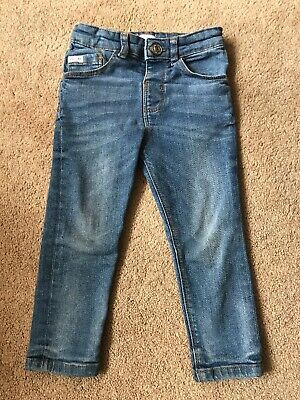 Boys River Island Blue Super Skinny Jeans Size 2-3 Years