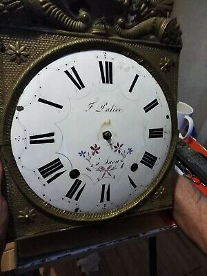 Vintage  brass  wall clock  crown  movement for repair
