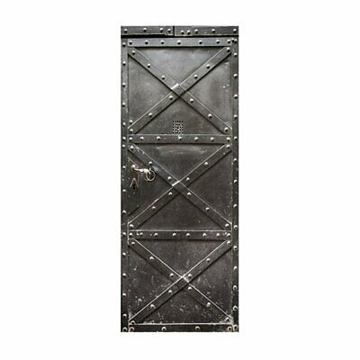 3D Door Poster Wall Sticker Patterned Iron Gate For Bedroom Modern Decoration-%