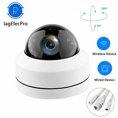 Wireless 4X Zoom 1080P WIFI IP Camera Dome Security CCTV PTZ HD IR Audio Outdoor
