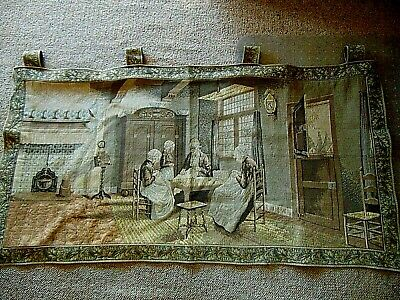 Vintage Belgium Made Wall Hanging Tapestry Look at the Details!!