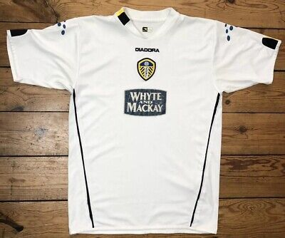 """LEEDS UNITED Diadora Whyte And Mackay 2004-05 JXL Pit To Pit 19"""" Fits Mens Small"""