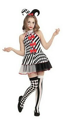 Teen Age 10,16 Harlequin Honey Costume Girls Jester