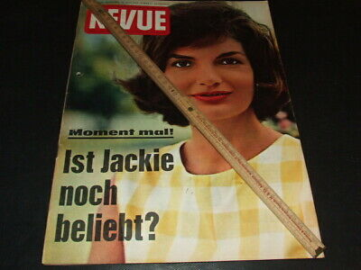 """Jacqueline Kennedy … on cover … german magazine """"REVUE"""" … 1962"""