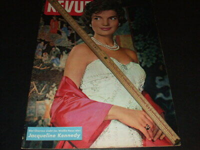 """Jacqueline Kennedy … on cover … 1961 … german magazine """"REVUE"""""""