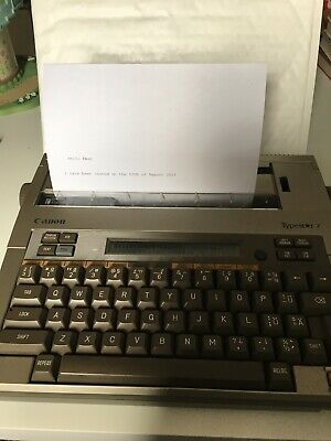 Vintage Canon Typestar 7 Electric Typewriter In Good Working Order With Adapter
