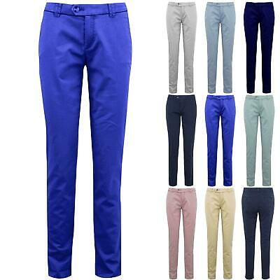 Ladies Womens Skinny Fitted Regular Slim Fit CHINO Casual Stretchy Trouser Pants