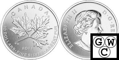 2011 'Maple Leaf Forever' $10 Silver Coin 1/2oz .9999 Fine (12864) (NT)