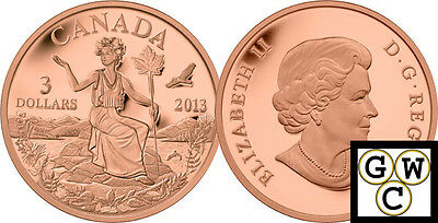 2013 Bronze 'Allegory' Proof $3 Bronze Coin (13229)