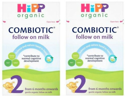 2 x Hipp Organic Combiotic Follow on Milk Milk Powder 800g /from 6 mths STAGE 2